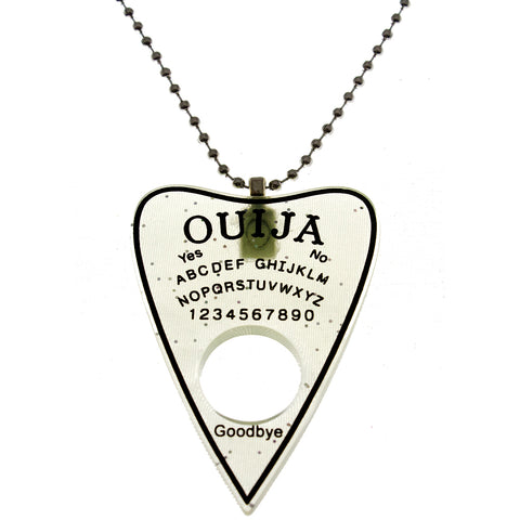 Women's Ouija Necklace Clear Occult Witch Goth Pastel Goth Alternative