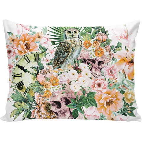 Owl with Skulls Pillow Case