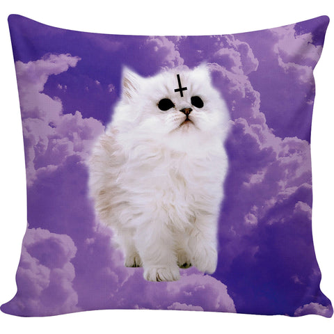 Pastel Satan Cat Pillow