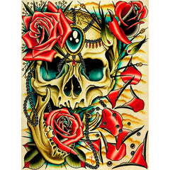 Petals by Tyler Bredeweg Canvas Giclee Neo Traditional Tattoo Art Skull Roses