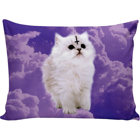 Pastel Satan Cat Pillow Case