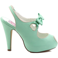 Pin Up Couture BETTIE-03 Sling Back Sandal Mint Vintage Retro Rockabilly