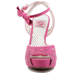 Pin Up Couture BETTIE 01 Ankle Strap Sandal Hot Pink Vintage Retro Rockabilly