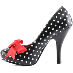 Pin Up Couture Cutiepie 06 Heel Polka Dot Bow Retro Vintage Rockabilly