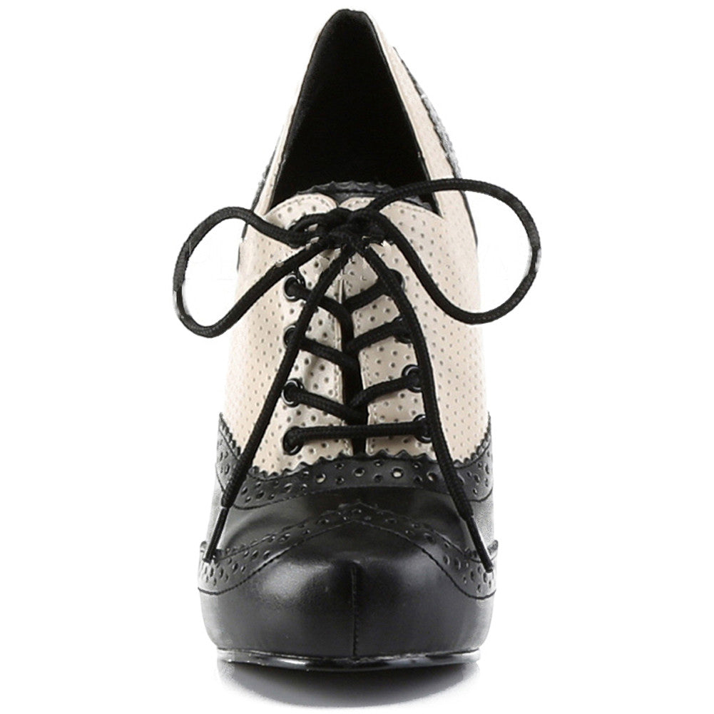 Pin Up Couture Cutiepie 14 Lace-Up Spectator Oxford Heel Vintage Rockabilly