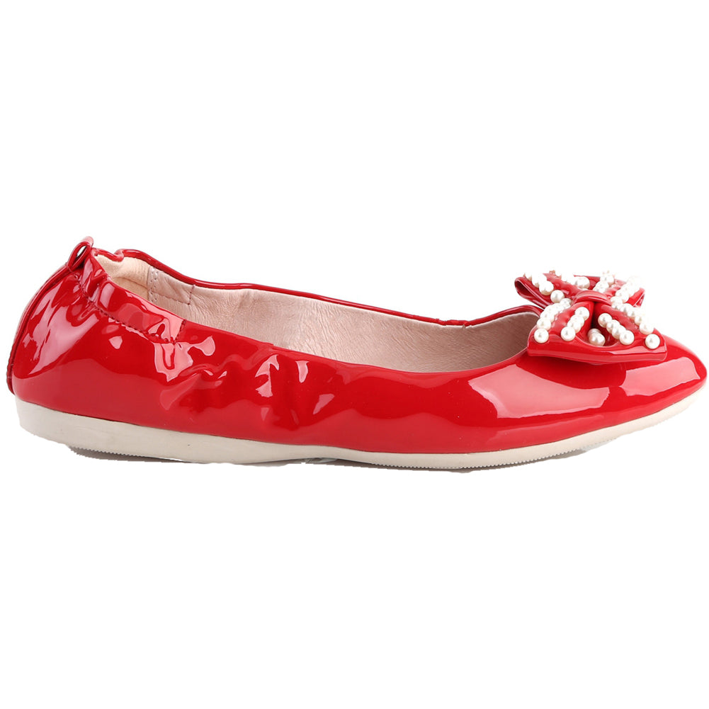 Pin Up Couture IVY-09 Foldable Flat Red Retro Rockabilly