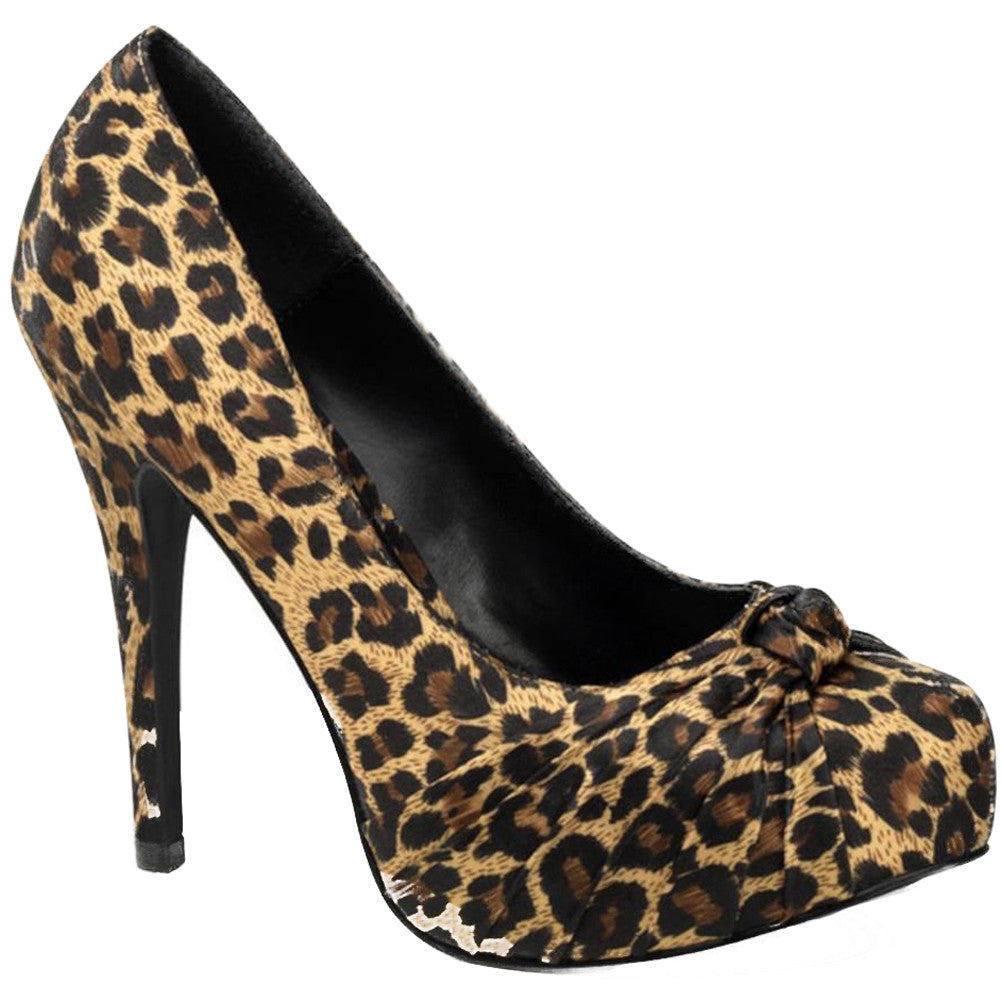 Pin Up Couture Safari 06 Heel Leopard Print Animal Retro Vintage Rockabilly