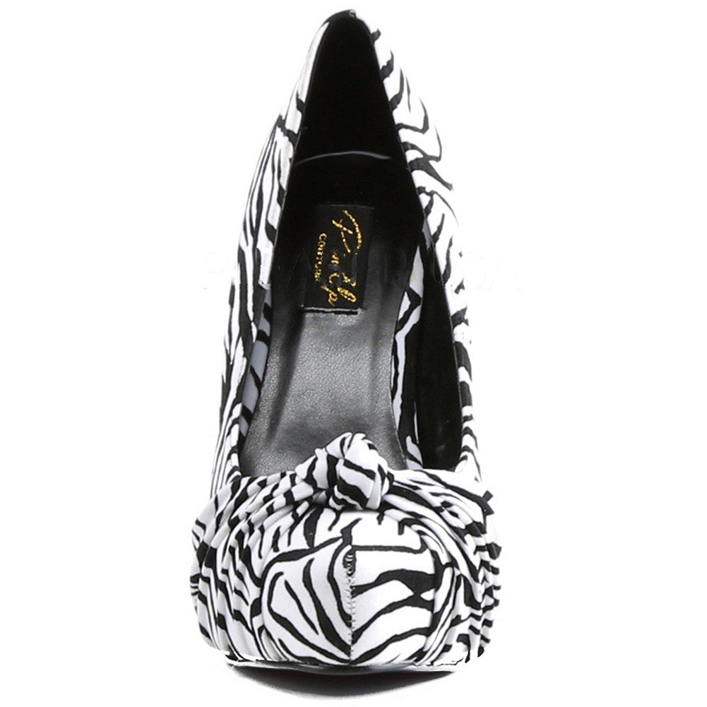 Pin Up Couture Safari 06 Heel Zebra Print Animal Retro Vintage Rockabilly