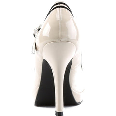 Pin Up Couture Secret 15 Strap Heel Cream Retro Vintage Rockabilly