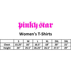 Womens Pinky Star Ghoulie Girl Flash T-Shirt Black Goth Pastel Goth Coffin Skull