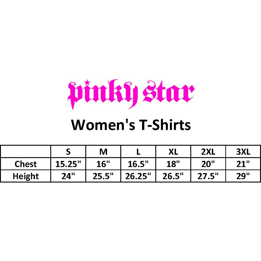 Women's Pinky Star Black Lipstick T-Shirt Black Punk Rock Goth