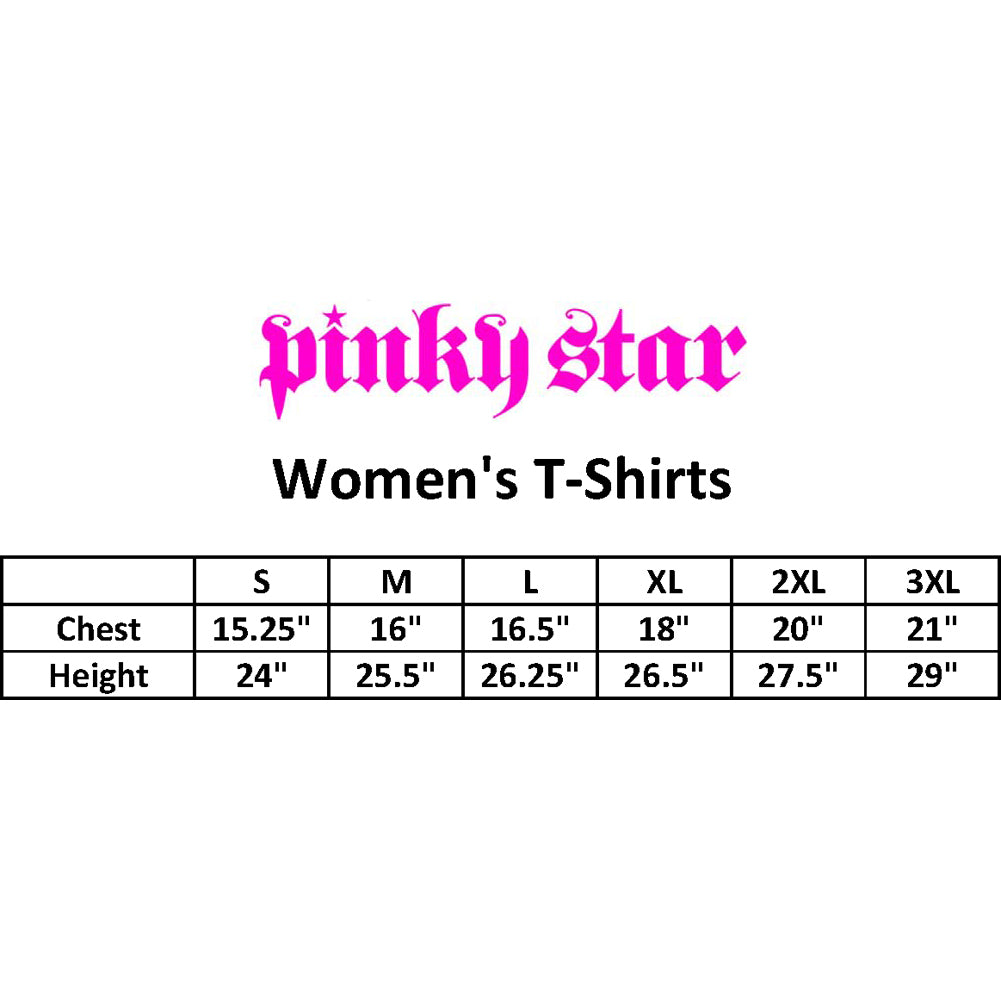 Women's Pinky Star Number One T-Shirt Black Flag