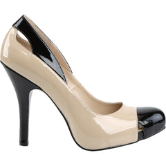 Pleaser EVE-07 Platform Spectator Pump Cream/Black Size 9-16
