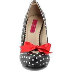Pleaser PINUP-05 Polka Dot Platform Pump Black/White Vintage Retro Rockabilly