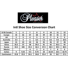 Pleaser PINUP-01 Hidden Platform Mary Jane Pump Black Size 9-16 Retro Rockabilly