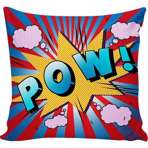 Pow Retro Comic Pillow