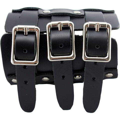 3 Buckle Wristband Punk Goth Alternative