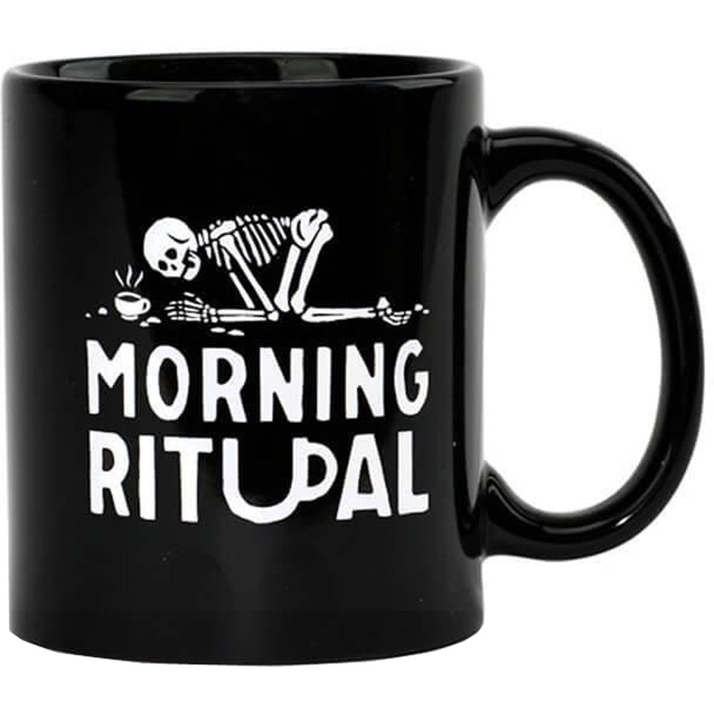 Pyknic Morning Ritual Coffee Mug Skeleton Pray