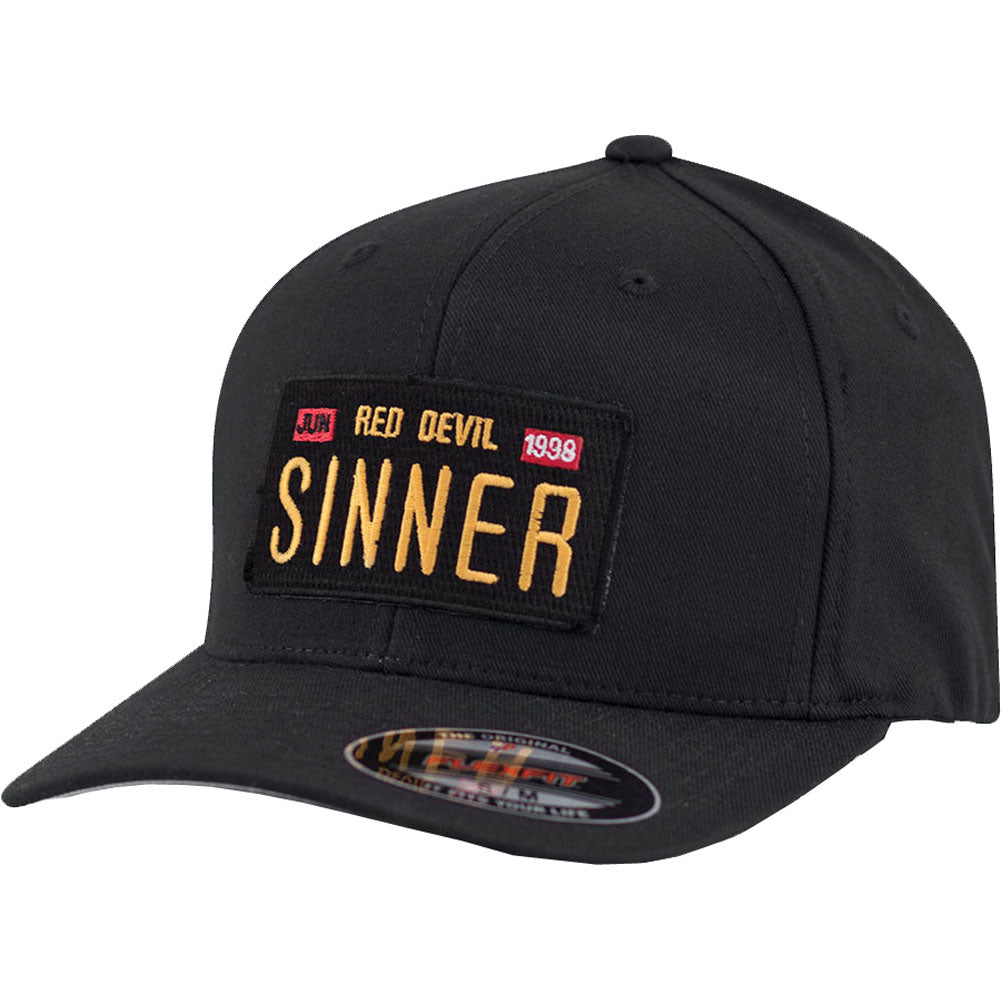 Red Devil Clothing Cali Sinner FlexFit Hat CA License Plate