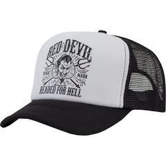 Red Devil Clothing Headed For Hell Trucker Hat Black/White Spade Pitchforks