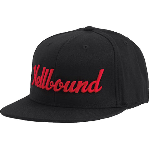 Red Devil Clothing Hellbound Flat Bill Hat Black/Red Evil Sinner