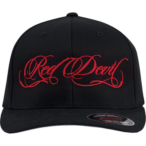 Red Devil Clothing Red Script FlexFit Hat Logo