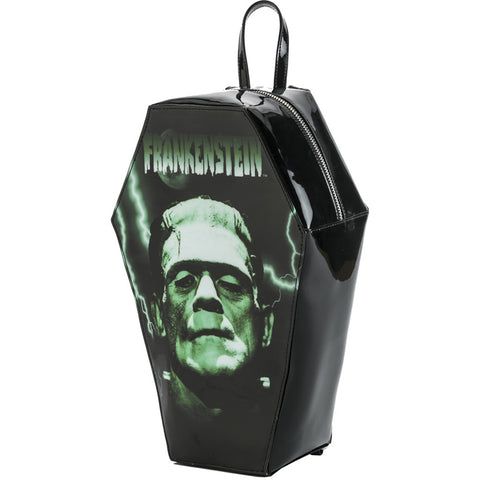 Rock Rebel Frankenstein Coffin Backpack Monster Classic Horror