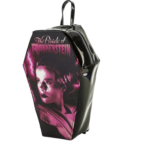 Rock Rebel Pink Bride Coffin Backpack Frankenstein Monster Classic Horror