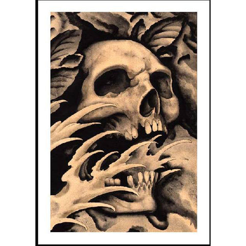 Screaming Skull Fine Art Print by Clark North
