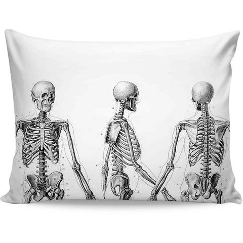 Skeleton Reference Pillow Case