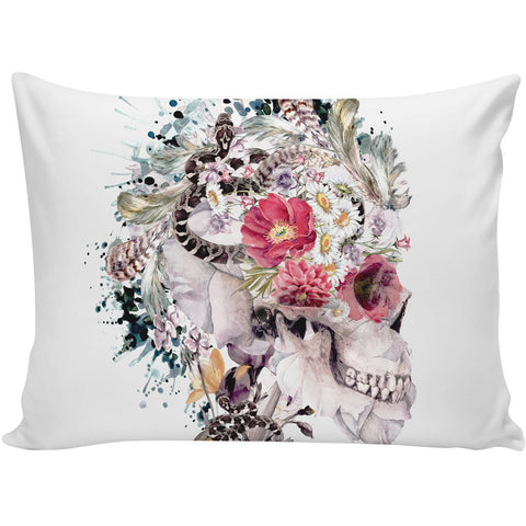 Skull Memento Mori X Pillow Case