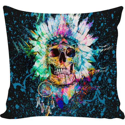 Skull Wild Spirit Pillow