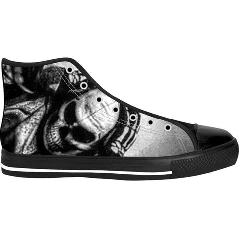 Unisex Skully High Top Canvas Shoes