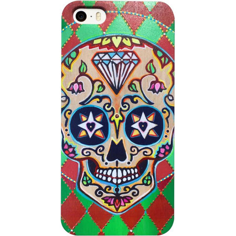 Smiling Sugar Skull iPhone Case