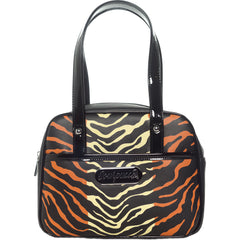 Sourpuss Jungle Princess Mini Bowler Purse Rockabilly Animal Print Tiger Stipes