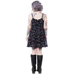 Sourpuss Lust for Skulls Dolly Dress Babydoll Goth Punk