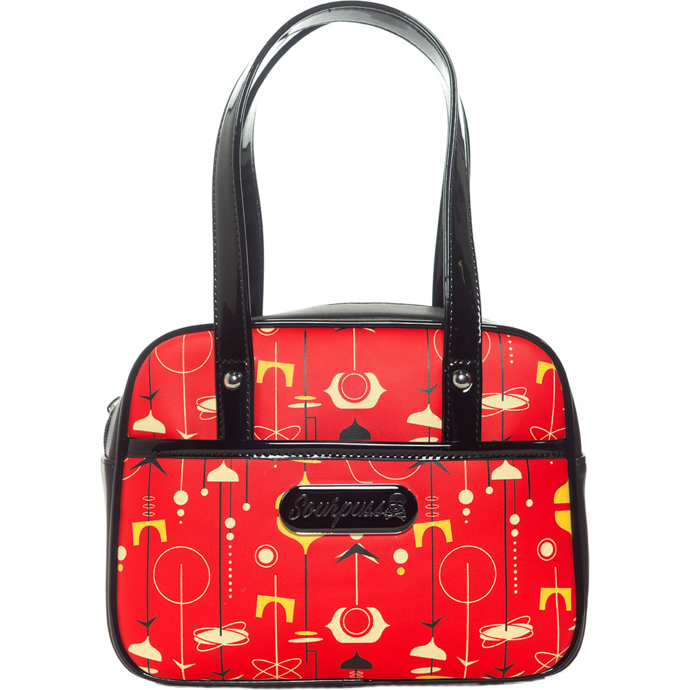 Sourpuss Mid-Century Modern Mini Bowler Purse Rockabilly