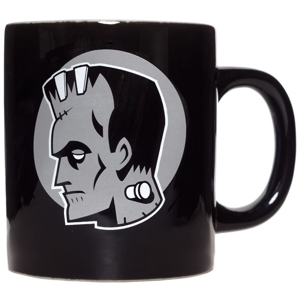 Sourpuss Monsters Mug Black Frankenstein Bride Horror Goth