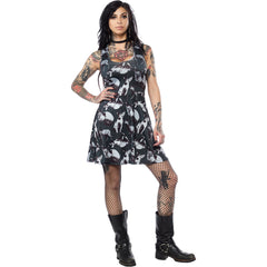 Sourpuss Sphynx Skater Dress Cat Lover Goth