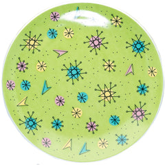 Sourpuss Sputnik Diner Plate Green Retro Vintage Rockabilly Atomic