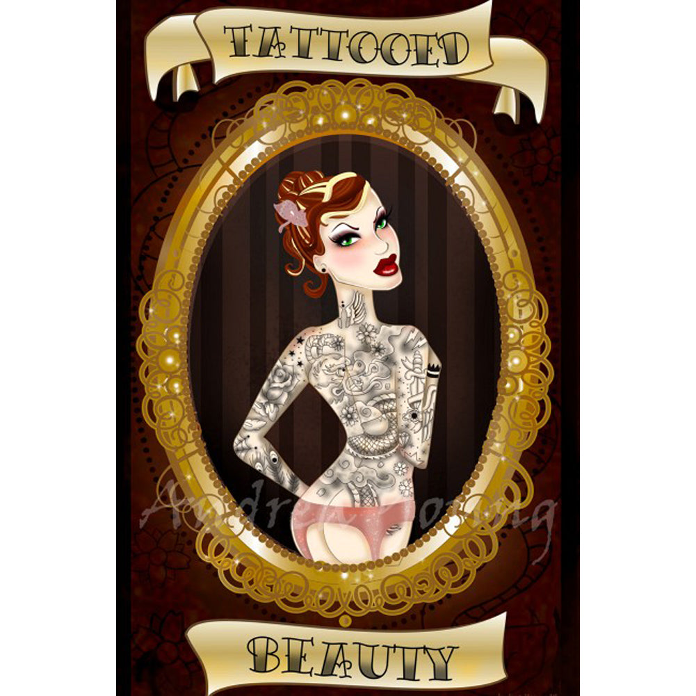 Tattooed Beauty Fine Art Print by Andrea Young Inked Lady Frame