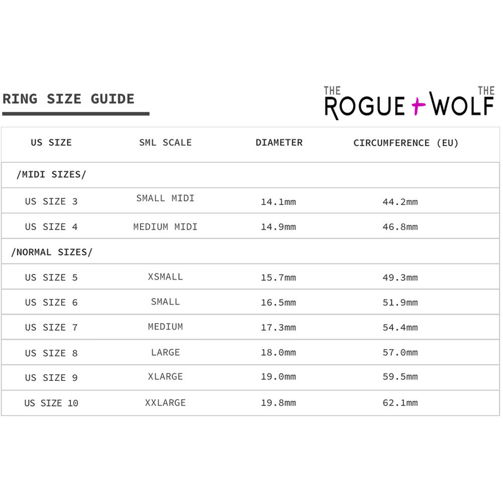 The Rogue & The Wolf Rhea Ring Black Goth Witch Occult