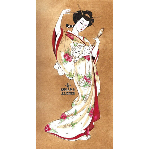 Traditional Geisha Canvas Giclee by Susana Alonso Japanese
