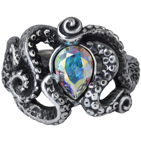 Unisex Alchemy of England Cthulhu Ring Silver Tentacles Monster Nautical