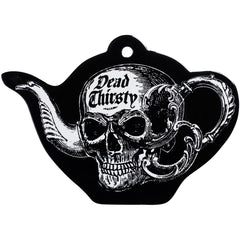 Alchemy of England Dead Thirsty Trivet Black/White Goth Skull Tea Pot