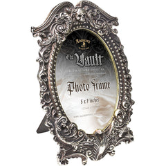 Alchemy of England Masque Of The Black Rose Picture Frame Silver Skull Goth