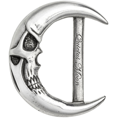 Alchemy of England Quietus Moon Buckle Silver Moon Skull