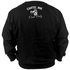 Unisex Cartel Ink  In God We Trust Crew Neck Sweatshirt Black You Pay Cash