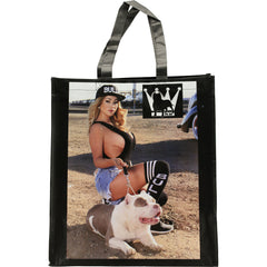 David Gonzales Art King Bully Art Tote Bag Black Pit Bulls Sexy Girls