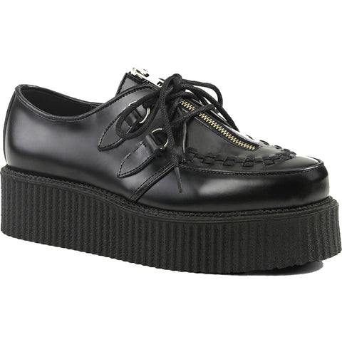 Unisex Demonia CREEPER-440 Platform Shoe Black Goth Punk Rockabilly